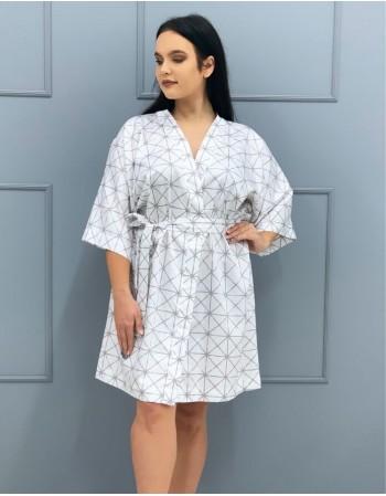 """Kimono from Satin """"Šviesos Vitražai"""""""