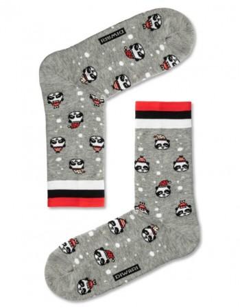 """Men's Socks """"Xmas panda"""""""