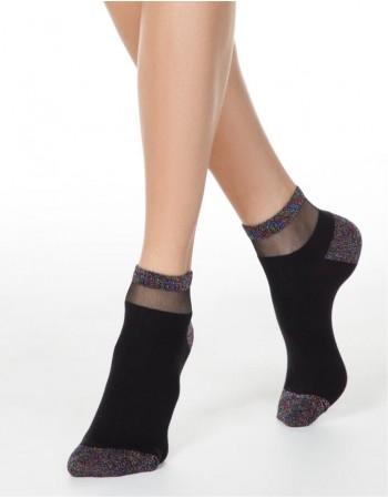Women's socks ''Shiny Black''