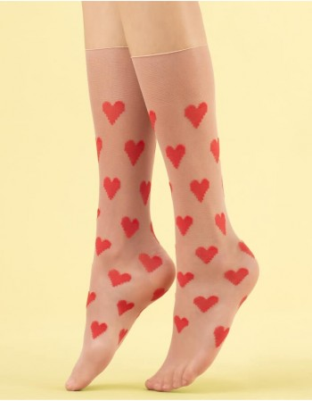 "Women's socks ""Love Me"" 8 Den"