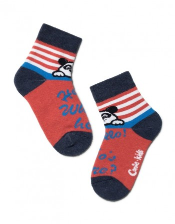 "Children's socks ""Bear Red"""