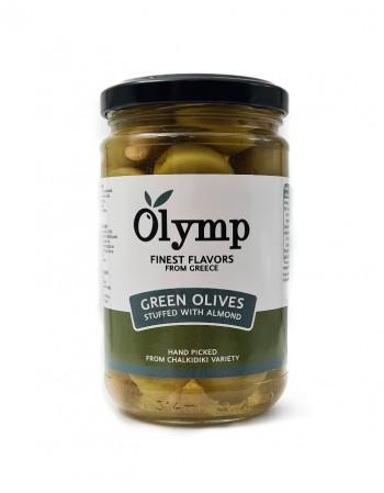 """Оливки зеленые фаршированные паприкой """"Olymp"""", 300 г"""