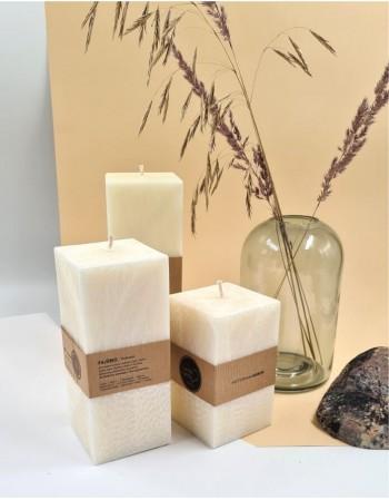 Kvepianti Kvadratinė Žvakė Pajūrio kokosai 23 cm