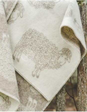 """Natūralios vilnos vaikiškas pledas """"Sand Sheep"""""""