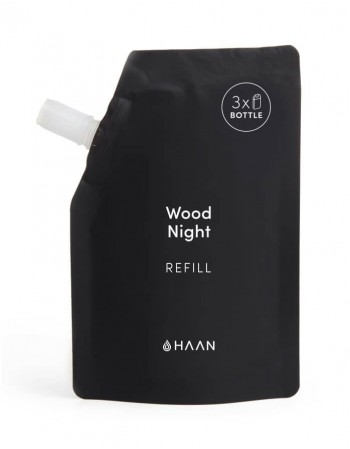 """Hydrating Hand Sanitizer's Refill HAAN """"Wood Night"""" 100ml"""
