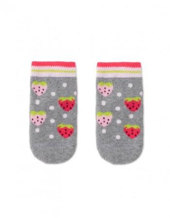 "Children's socks ""Strawberries Grey"""