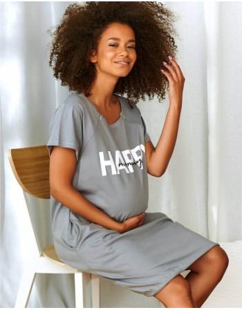 "Ночная сорочка ""Happy Mommy Grey"""