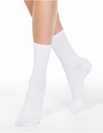 """Moteriškos kojinės """"Comfy White"""""""