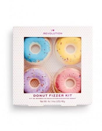 пузыр в ваннy DONUT Fizzer Kit blueberry+lavender+banana+strawberry, 4x40g