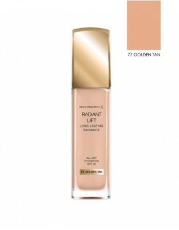 "Kreminė Pudra MAX FACTOR ""Radiant Lift"", 77 Golden Tan, 30 ml"