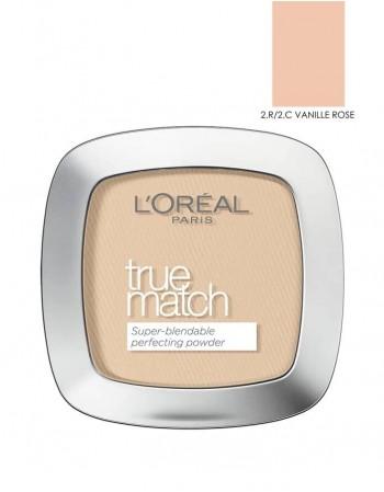 "Kompaktinė Pudra L'OREAL ""True match"", 2R/2C Vanille Rose, 9g"