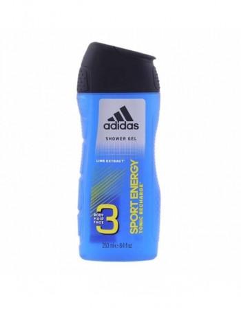 "Shower gels ""Adidas Sport energy 3in1"", 250 ml"